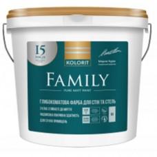 Kolorit Family (Interior Premium-3)  Гипоаллергенная матовая латексная краска для стен и потолков 2.7 л