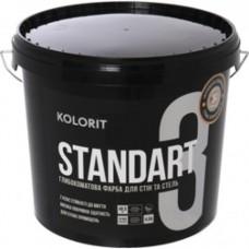 Kolorit Standart  3 (Interior Standart) матовая латексная краска для стен и потолков 2,7 л