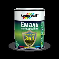 Kompozit Эмаль 3в1 антикоррозийная (серебристый) 2,4 кг