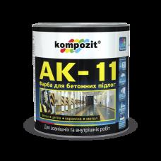 Kompozit Краска для бетонных полов (серая) АК-11 55 кг