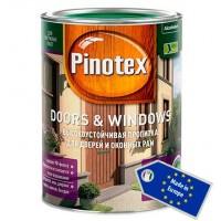Pinotex Doors&Windows - декоративно-защитная пропитка на водной основе для окон и дверей 1л