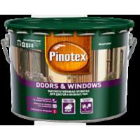 Pinotex Doors&Windows - декоративно-защитная пропитка на водной основе для окон и дверей 10л